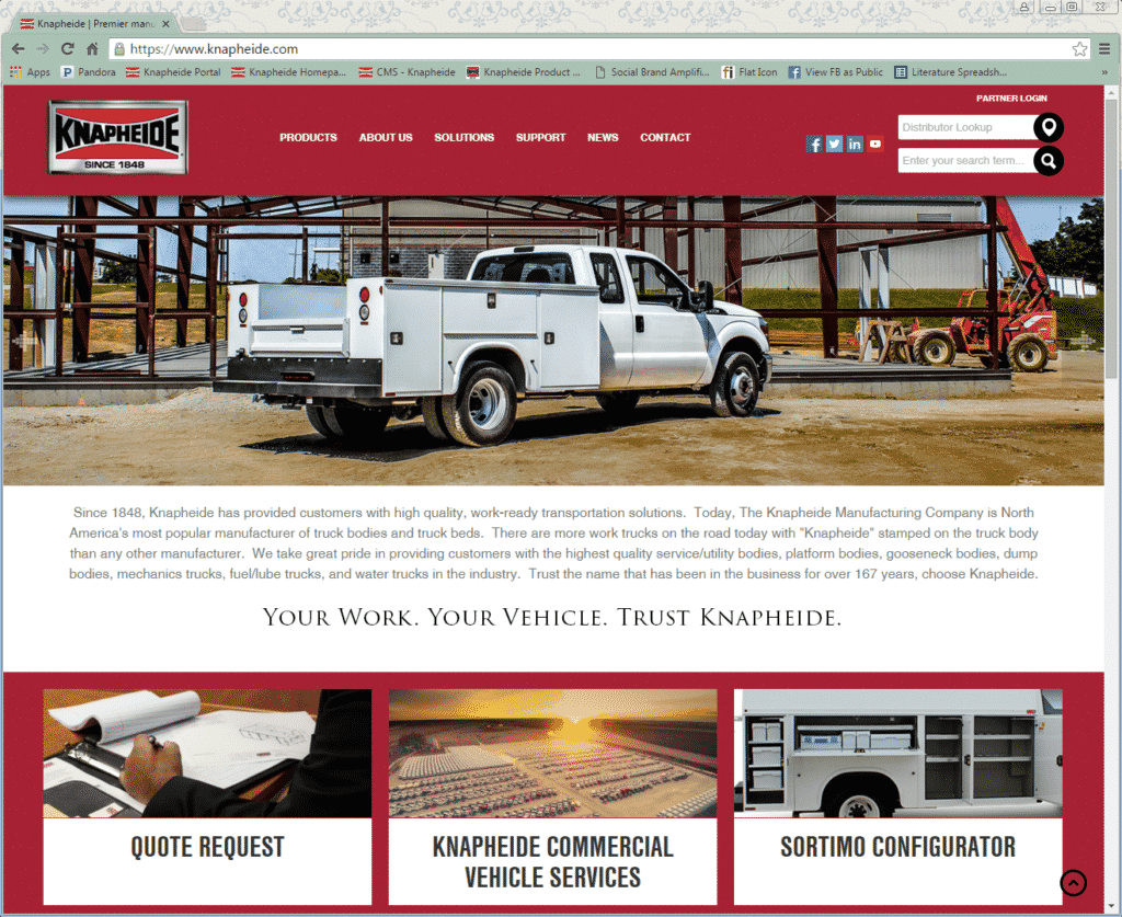 Knapheide New Website