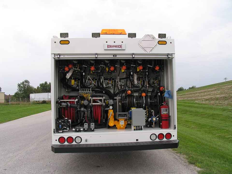 KFLT2 Fuel Lube Truck on a Peterbilt 348 regular cab.