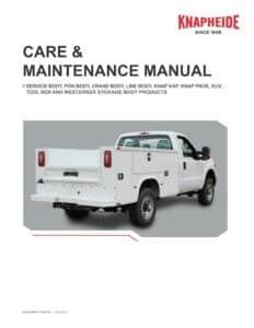 Utility Body Maintenance Manual